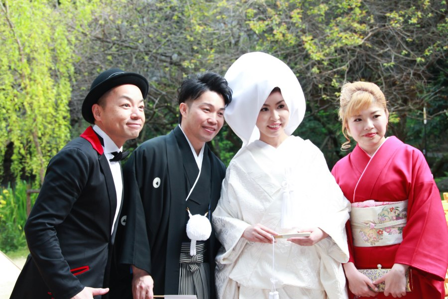 azusa and groom and friends (1 of 1)
