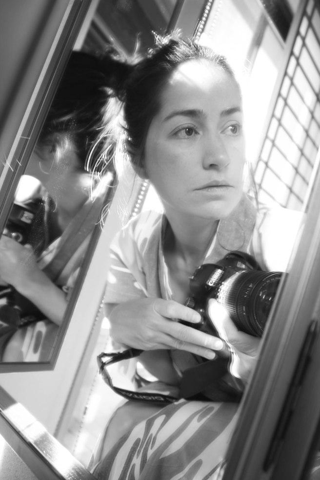 self portrait in mirror bw (10 of 1)