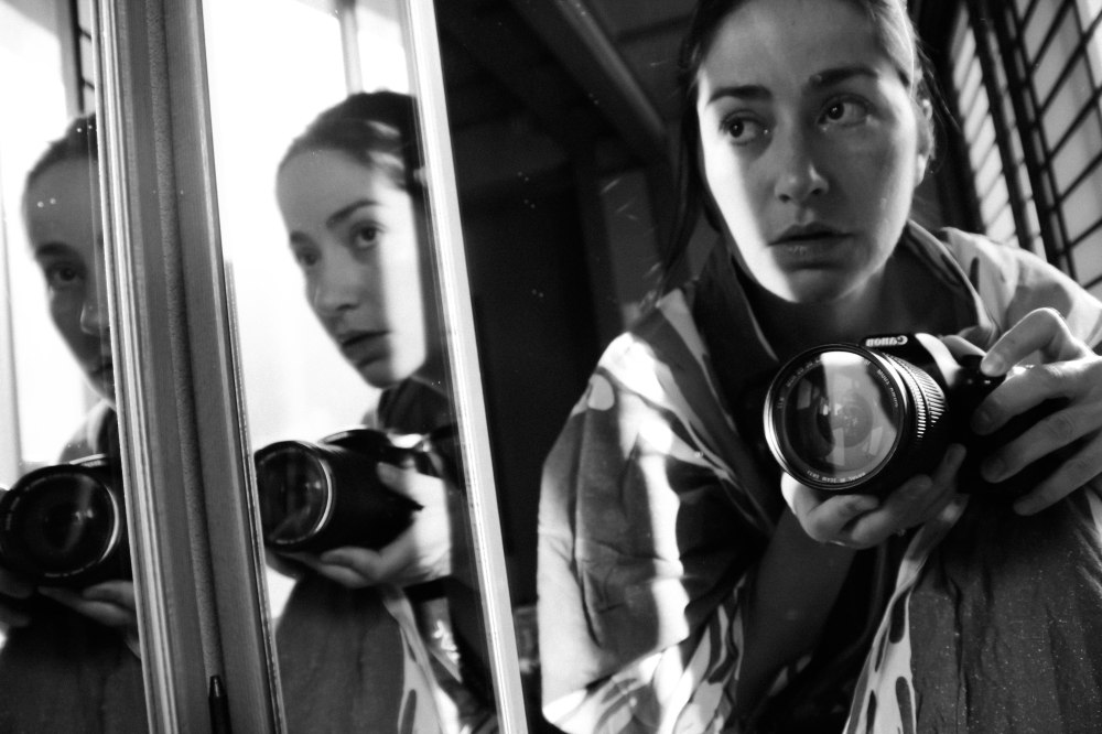 self portrait in mirror bw (12 of 1)
