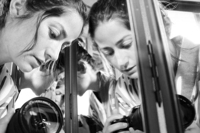 self portrait in mirror bw (4 of 1)