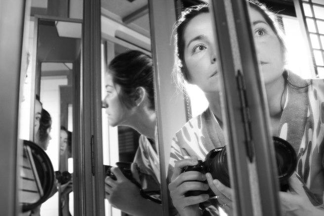 self portrait in mirror bw (5 of 1)