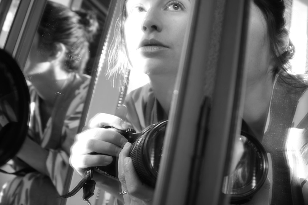 self portrait in mirror bw (6 of 1)