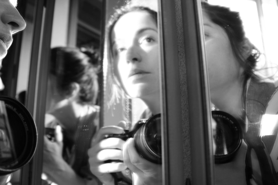 self portrait in mirror bw (7 of 1)