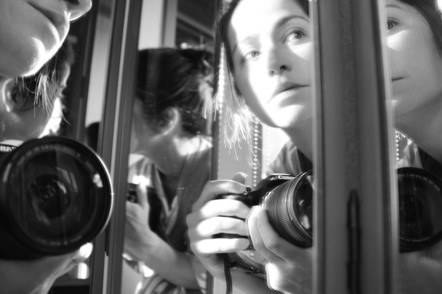 self portrait in mirror bw (8 of 1)